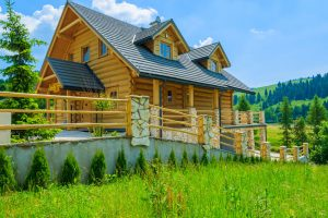 traditional log home fire mitigation mountain property services